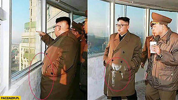 Kim Jong Un ubrudził się od ściany