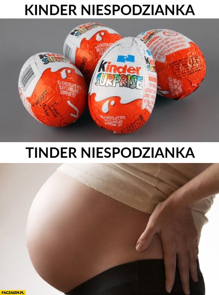 Kinder niespodzianka, tinder niespodzianka ciąża brzuch