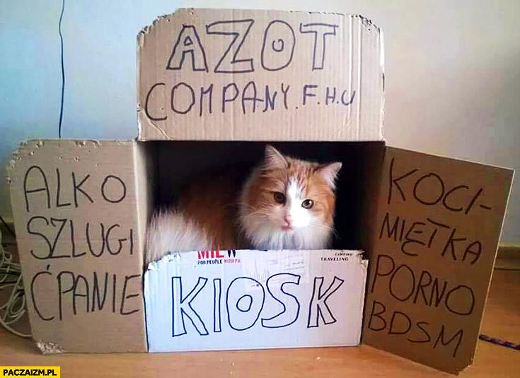 Kiosk kot sprzedaje alko szlugi ćpanie kocimiętka