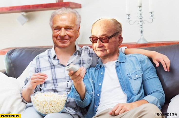 Kiszczak Jaruzelski oglądają telewizję przedstawienie w niebie popcorn pilot przeróbka towarzysz Bolek dokumenty