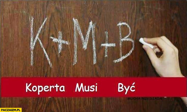 K+M+B koperta musi być