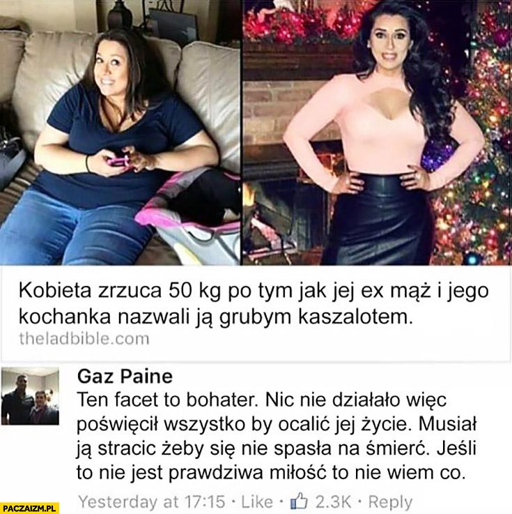 Kobieta zrzuca 50kg po tym jak jej ex mąż i jego kochanka nazwali ją grubym kaszalotem. Ten facet to bohater jeśli to nie jest prawdziwa miłość to nie wiem co