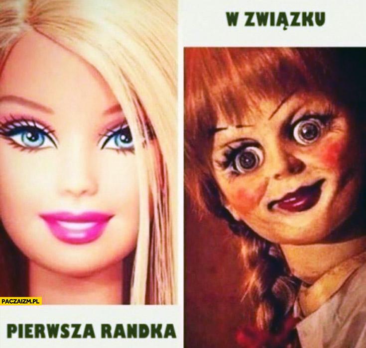 Kobiety pierwsza randka Barbie w związku jak z horroru