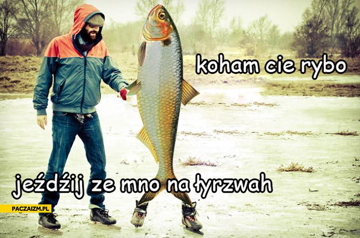 Kocham Cię rybo jeździj ze mną na łyżwach