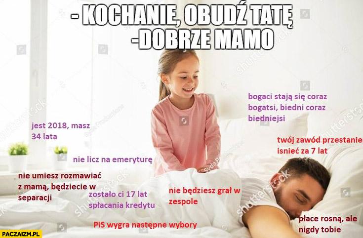 Kochanie obudź tatę, dobrze mamo: nie licz na emeryturę, płace rosną ale nigdy Tobie, Twój zawód przestanie istnieć za 7 lat, nie będziesz grał w zespole