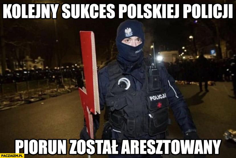 Kolejny sukces polskiej policji piorun został aresztowany