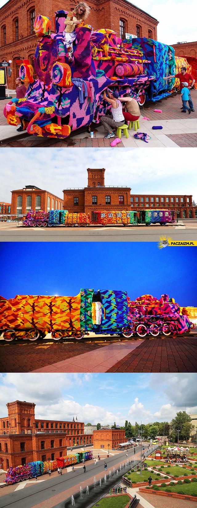 Kolorowy pociąg – Łódź Manufaktura