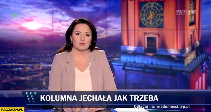 Kolumna jechała jak trzeba TVP o wypadku Beaty Szydło