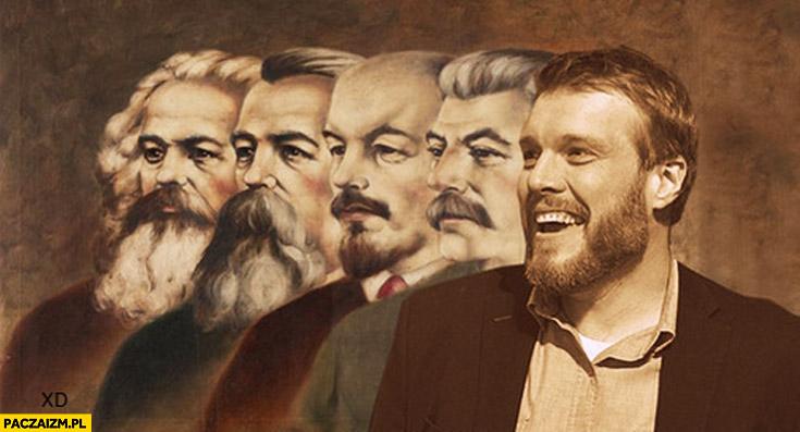 Komuniści Marks, Lenin, Stalin, Zandberg