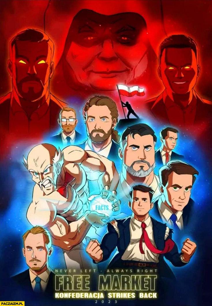Konfederacja free market plakat filmowy manga anime przeróbka