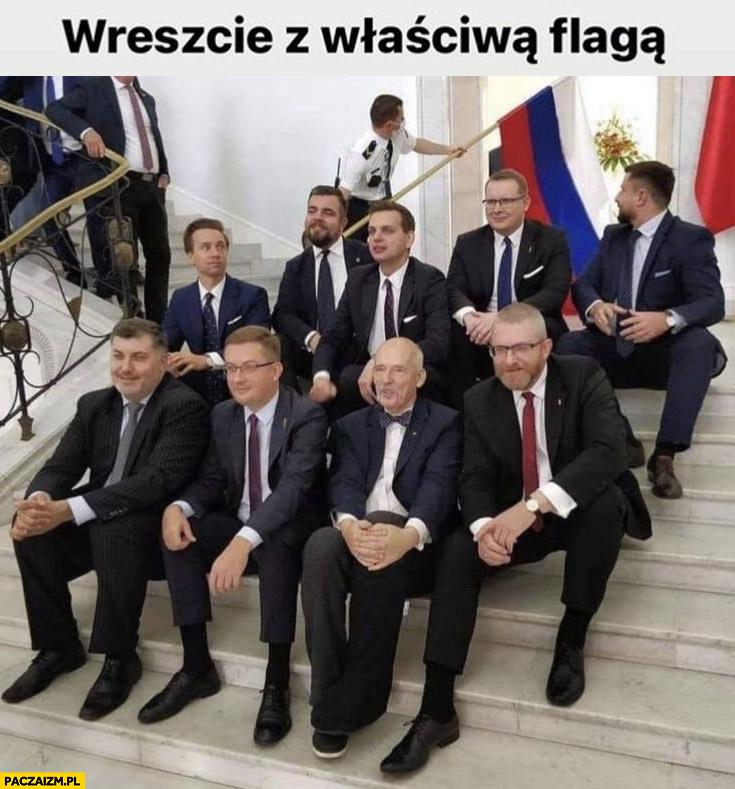 Konfederacja wreszcie z właściwą flagą rosyjska Rosja
