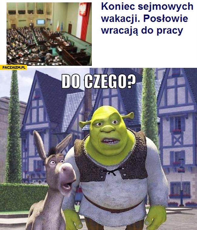 Koniec sejmowych wakacji Shrek