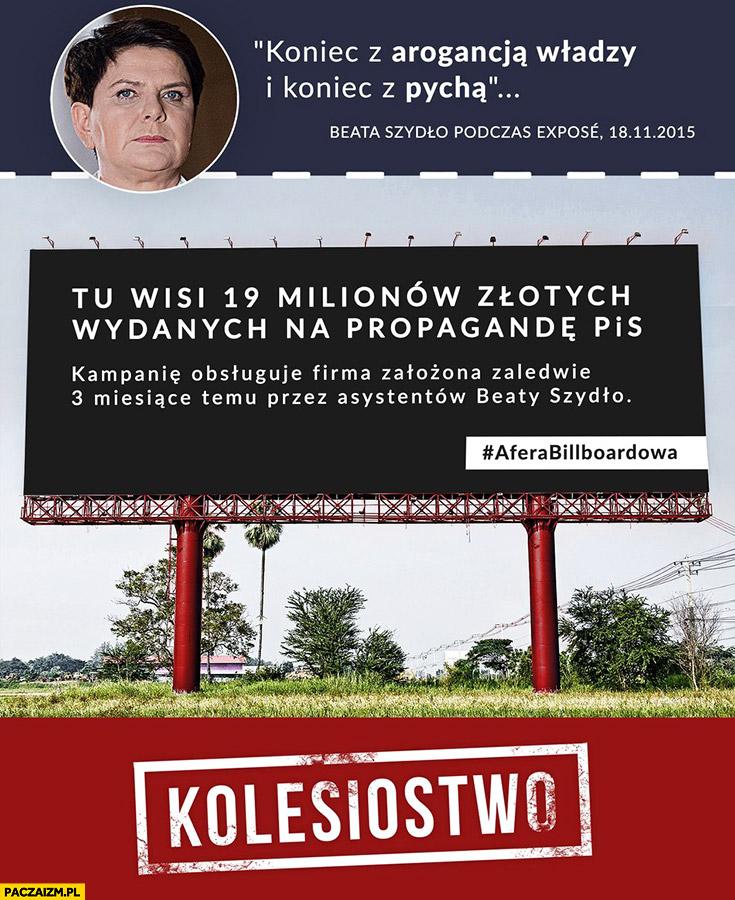Koniec z arogancją władzy i pychą tu wisi 19 milionów złotych wydanych na propagandę PiS kolesiostwo