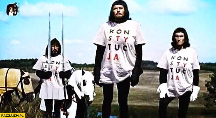 Konstytucja koszulki Krzyżacy dają dwa nagie miecze pod Grunwaldem