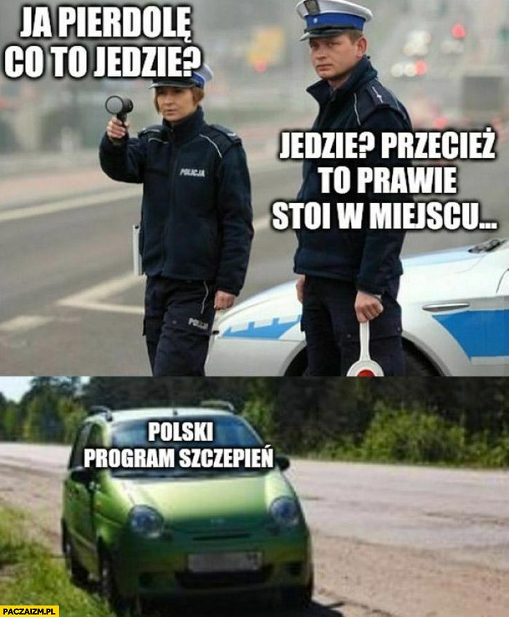 Kontrola policyjna co to jedzie przecież to prawie stoi w miejscu polski program szczepień