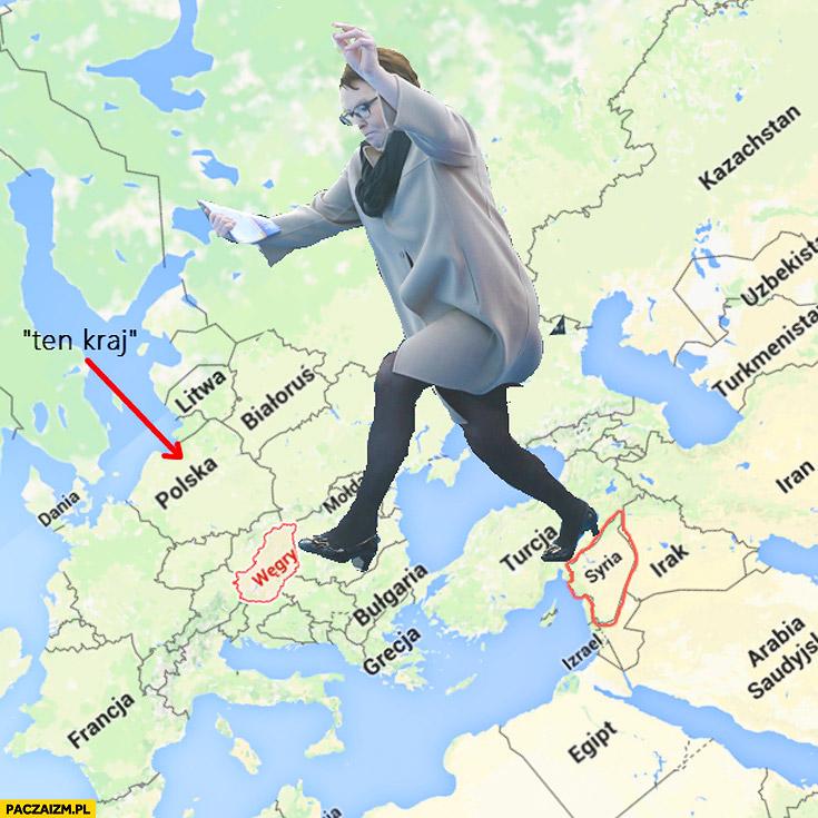 Kopacz granica Węgiersko-Syryjska przeskakuje nad kałużą