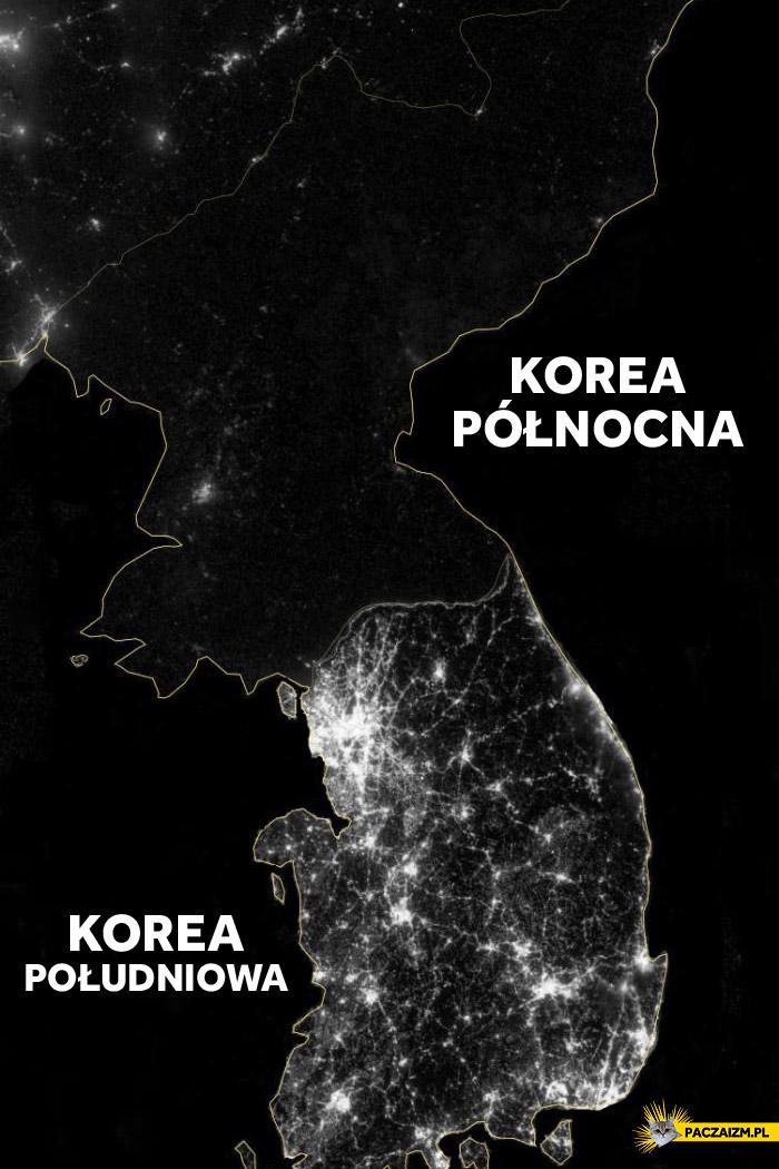 Korea Północna vs. Korea Południowa w nocy