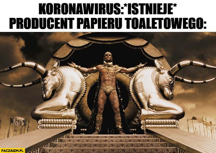 Koronawirus istnieje, producent papieru toaletowego bogacz cały w złocie