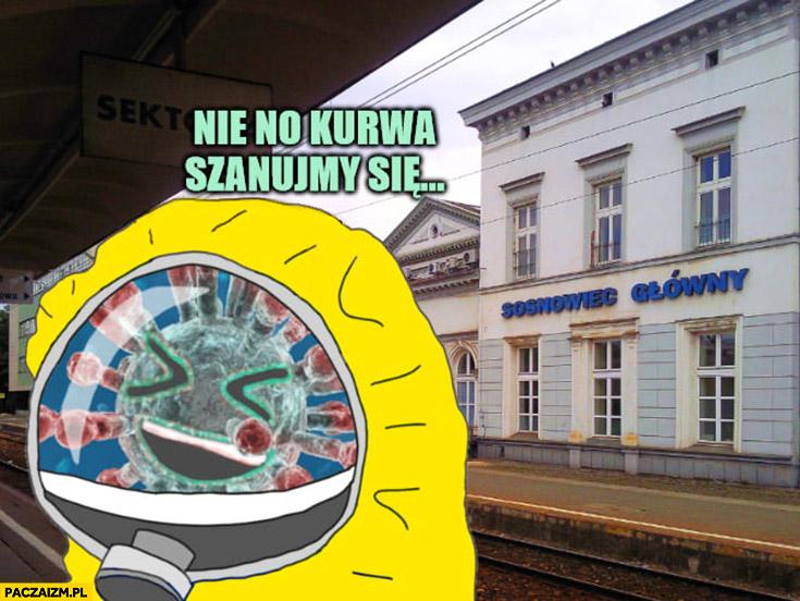 Koronawirus na dworcu w Sosnowcu nie no kurna szanujmy się