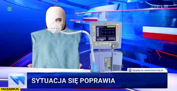 Koronawirus sytuacja się poprawia Holecka pod respiratorem Wiadomości TVP przeróbka