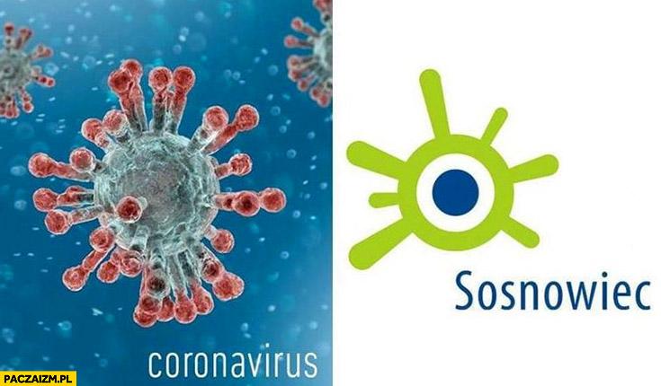 Koronawirus wygląda jak logo Sosnowca