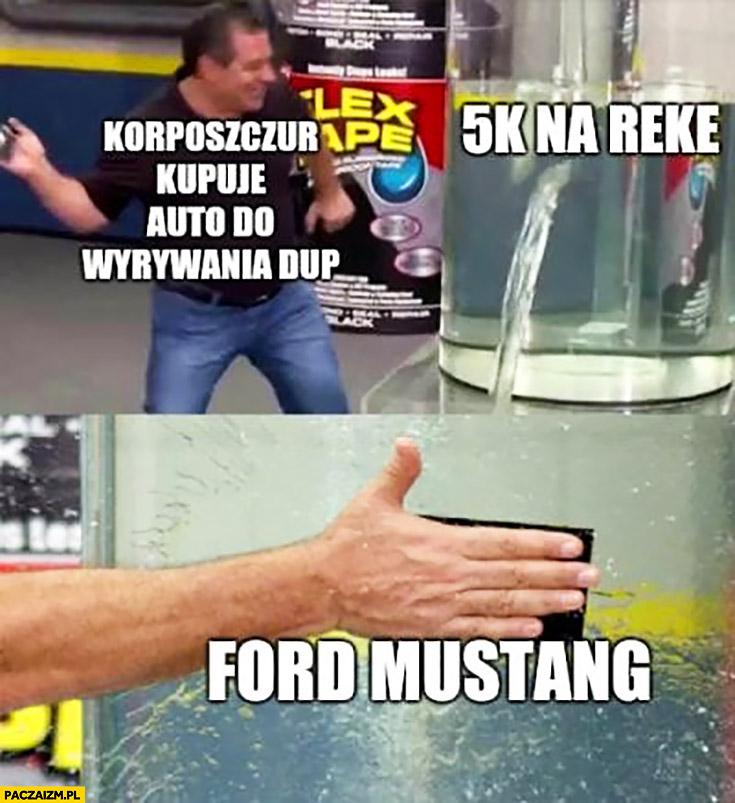 Korposzczur kupuje auto do wyrywania dup 5000 na rękę Ford Mustang
