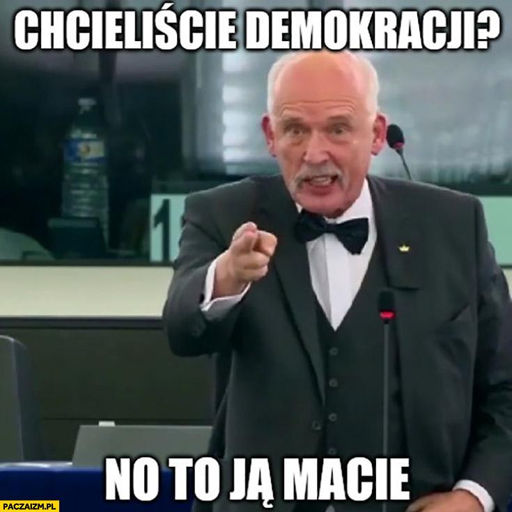 Korwin chcieliście demokracji no to ją macie
