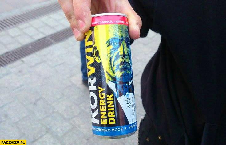 Korwin energy drink źródło mocy