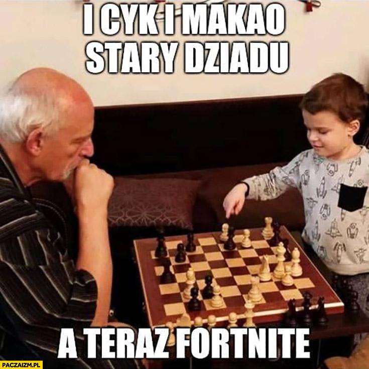 Korwin gra w szachy z dzieckiem i cyk i makao stary dziadu a teraz Fortnite
