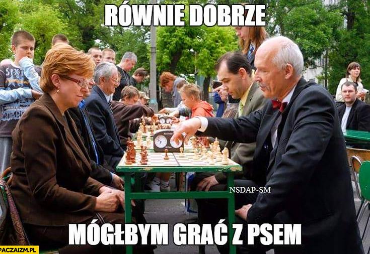 Korwin gra w szachy z kobietą równie dobrze mógłbym grać z psem
