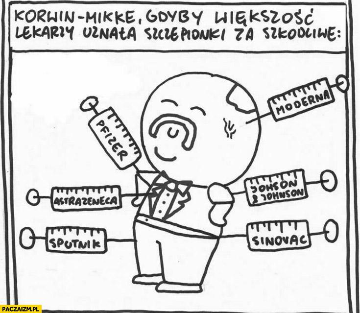 Korwin-Mikke gdyby większość lekarzy uznała szczepionki za szkodliwe szczepi się wszystkimi