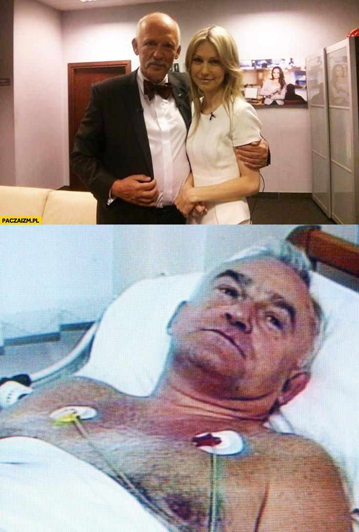 Korwin-mikke z Magdaleną Ogórek, Miller w szpitalu pod kroplówką