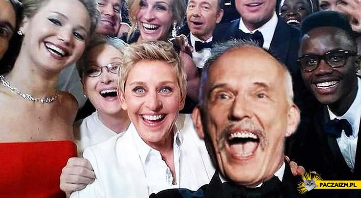 Korwin selfie oscary