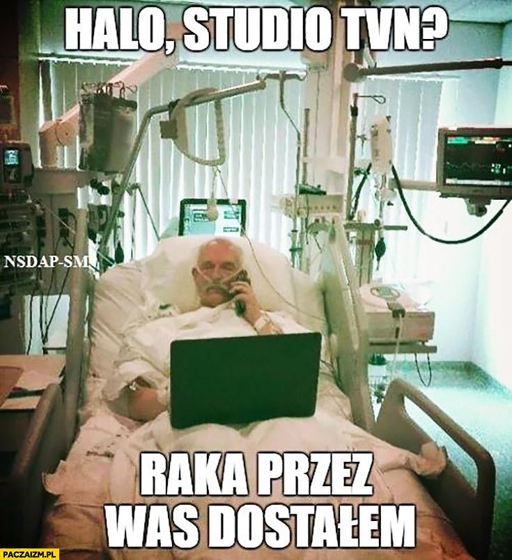Korwin w szpitalu: halo, studio TVN? Raka przez was dostałem