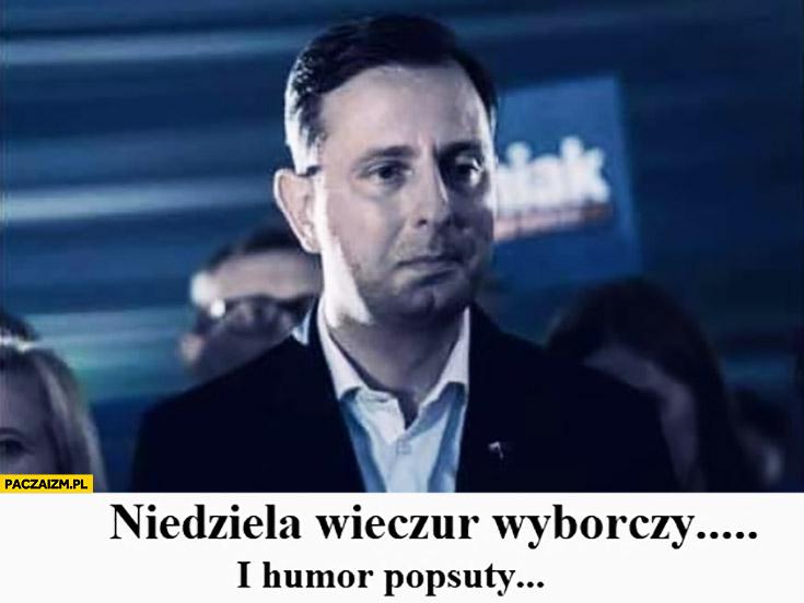 Kosiniak-Kamysz niedziela wieczór wyborczy i humor popsuty