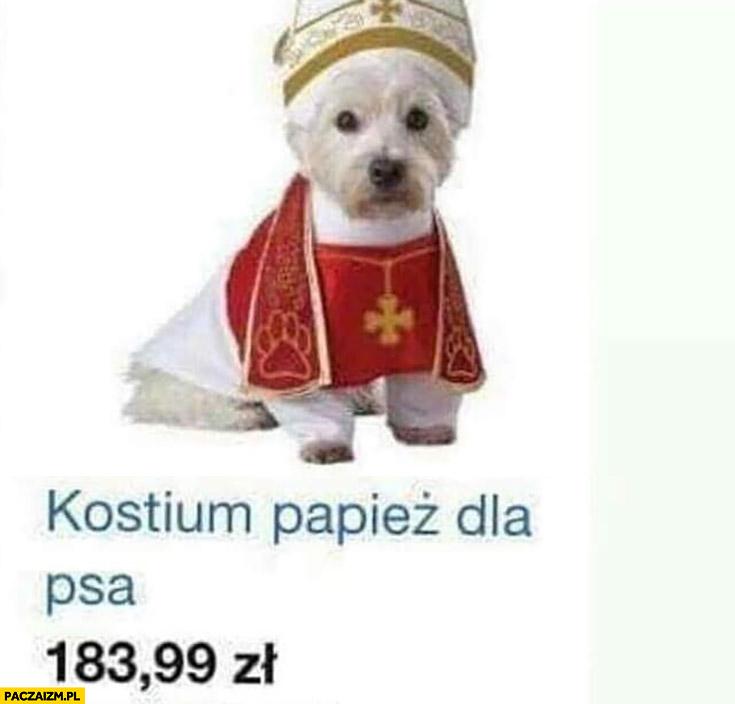Kostium papież dla psa przebranie