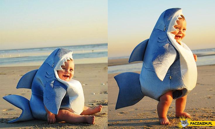 Kostium rekina dla dziecka
