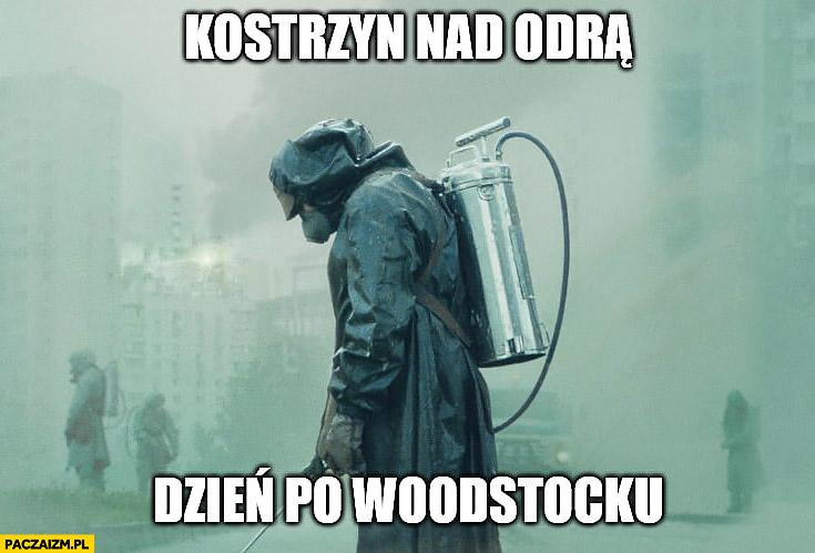 Kostrzyn nad Odra dzień po Woodstocku Czarnobyl czyszczenie dekontaminacja