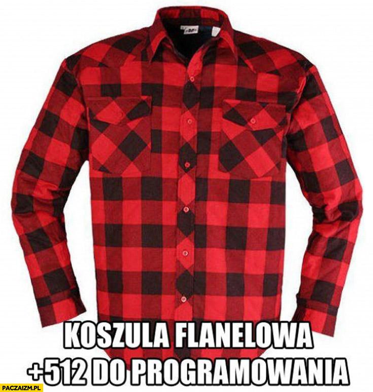 Koszula flanelowa w kratę +512 do programowania