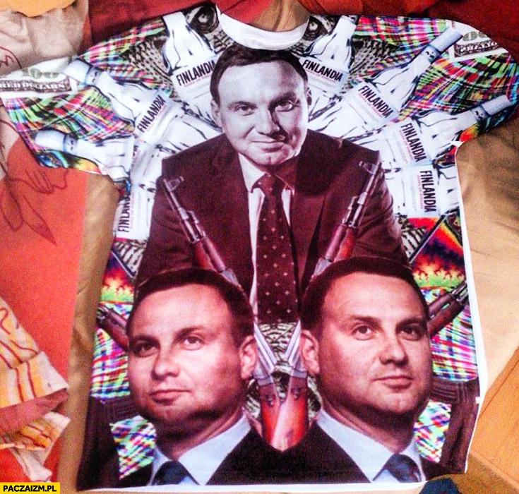 Koszulka z Andrzejem Duda Finlandia przeróbka