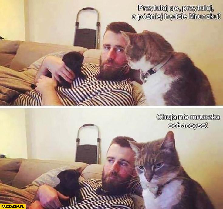Kot do właściciela: przytulaj psa, a później będzie Mruczku, gówno nie Mruczku zobaczysz