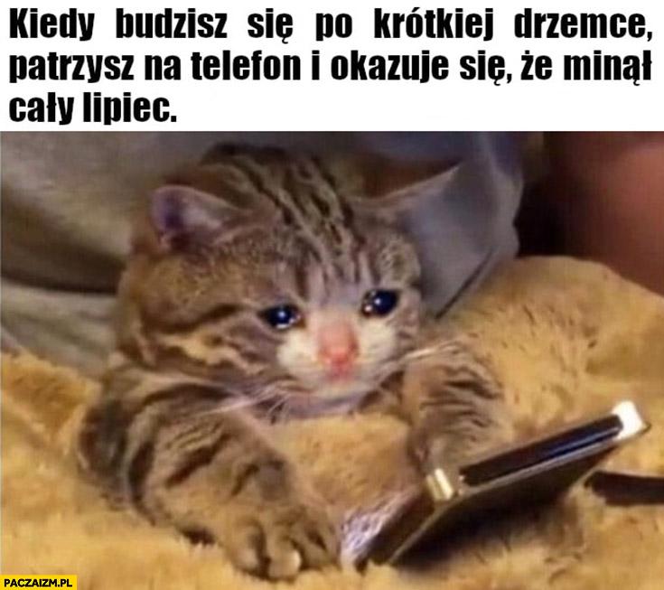 Kot kiedy budzisz się po krótkiej drzemce patrzysz na telefon i okazuje się, że minął cały lipiec