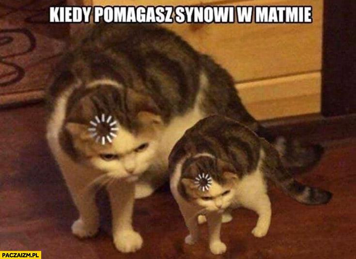 Kot myśli kiedy pomagasz synowi w matmie
