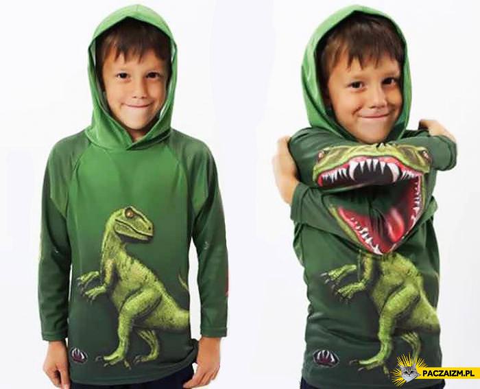 Kreatywna bluza z T-Rexem