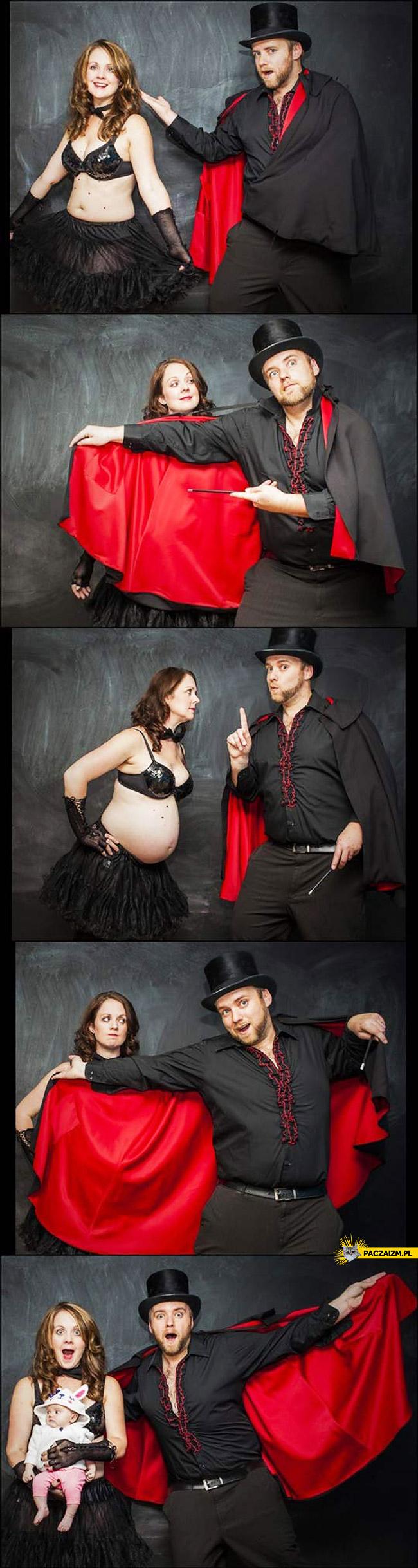 Kreatywna sesja ciążowa