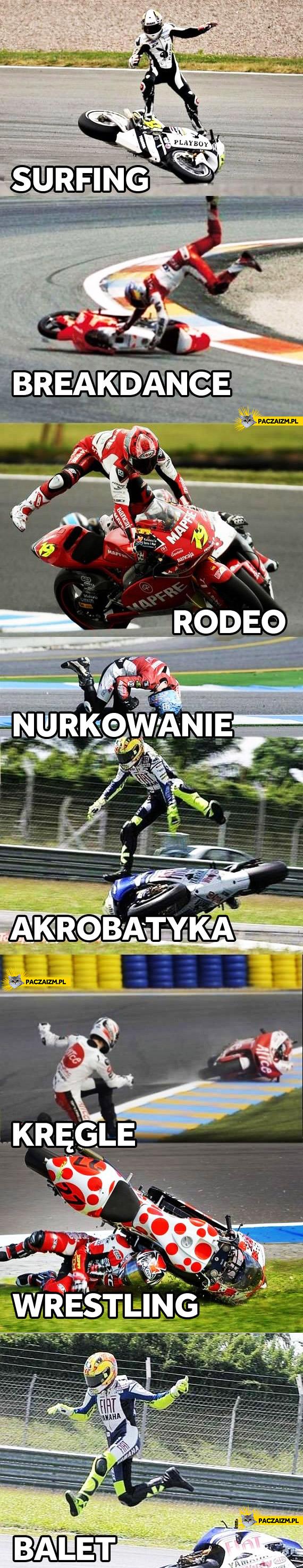 Kreatywne użycie motocykla