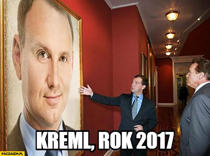 Kreml rok 2017 obraz Andrzej Duda