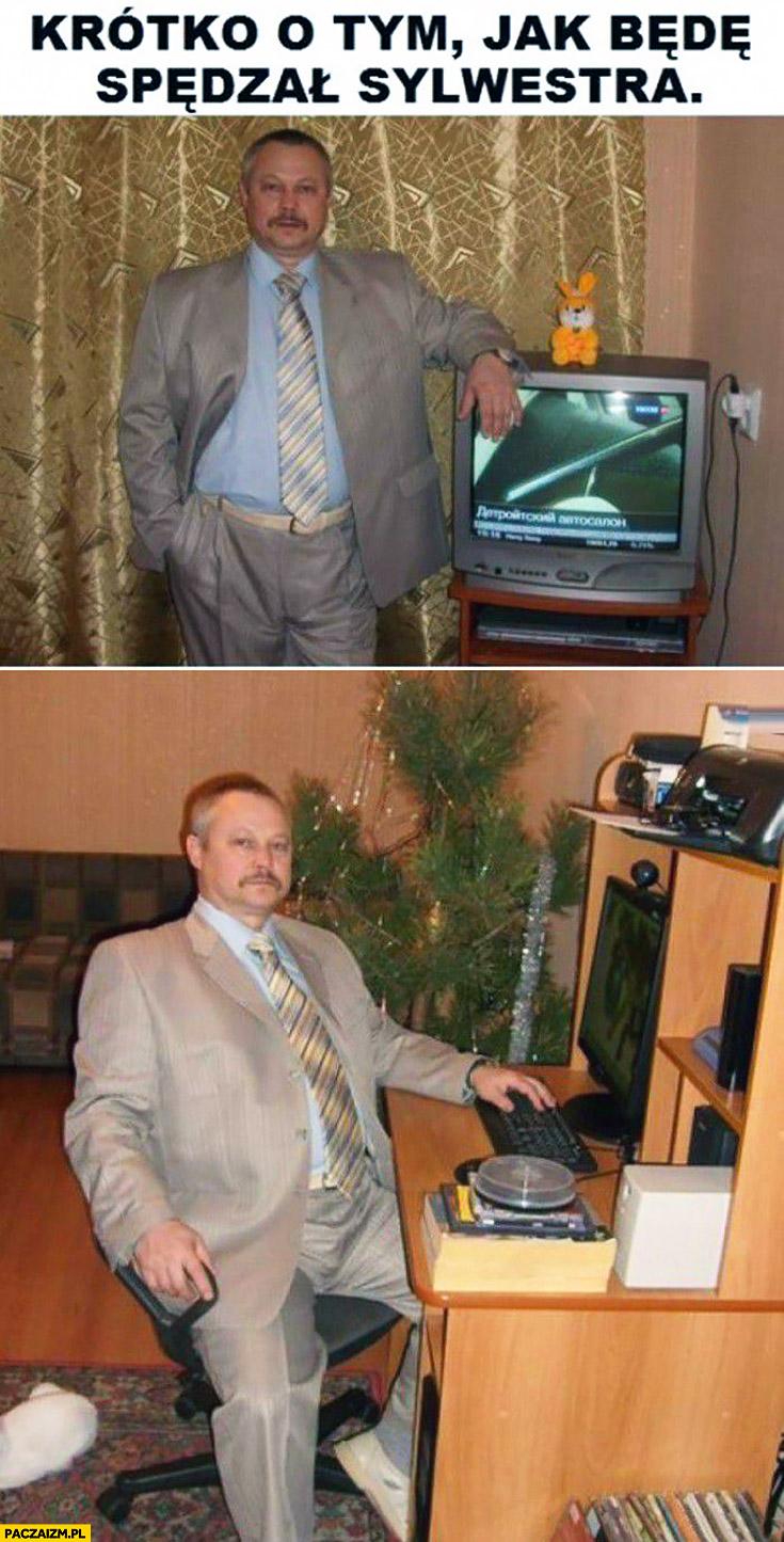 Krótko o tym jak będę spędzał sylwestra: w garniturze przed komputerem i telewizorem