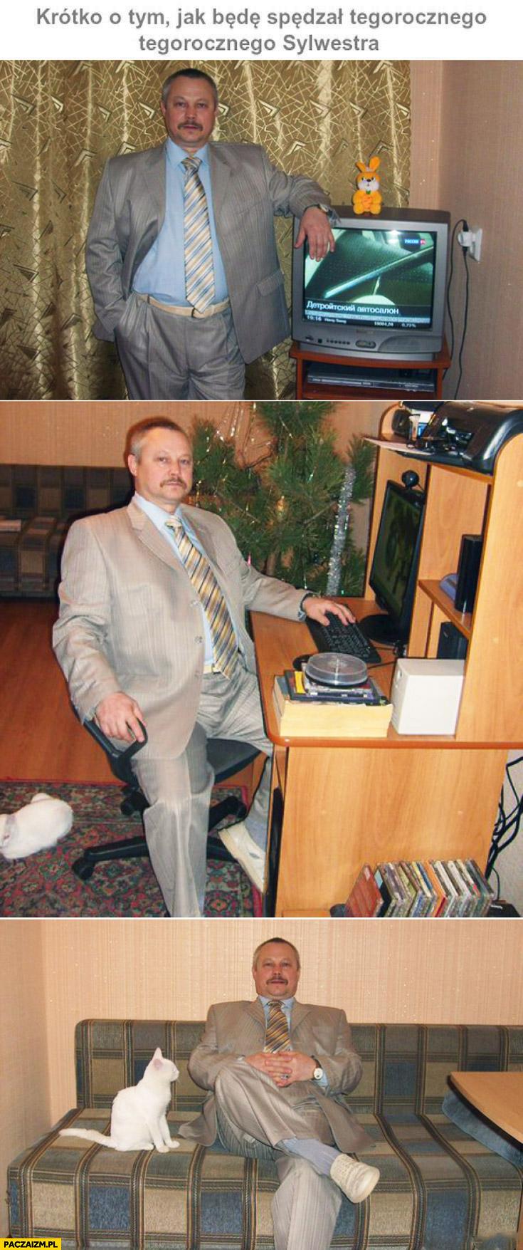 Krótko o tym jak spędzę tegorocznego sylwestra Janusz w garniturze