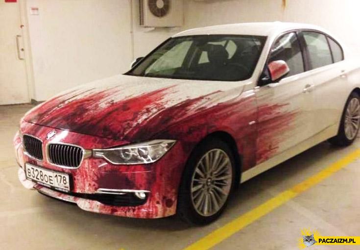 Krwiste BMW we krwi